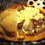 新春ワンコインランチ!チーズハンバーグの煮込み 500円 デザート&コーヒーは+250円