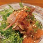 ニシンとミョウガの梅和え  700円 Fresh Herring with Myoga and Ume dressing ¥700